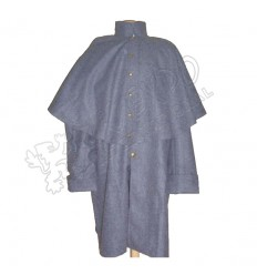 Black Civil War Great Coat With Brass Buttons