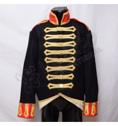 Dark Blue With Red color and cuff with Golden Baird Turn Back is white Real Turn back
