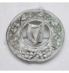 Shamrock knot and Irish Harp Brooch