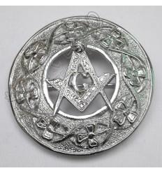 Shamrock knot and Masonic Badge Brooch
