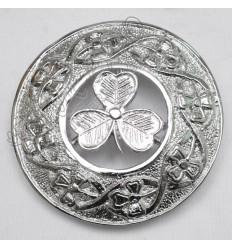 Shamrock knot and Shamrock Badge Brooch