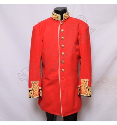 RED COLOR COLDSTREAM GUARDS OFFICER COLONEL DRESS TUNIC JACKET