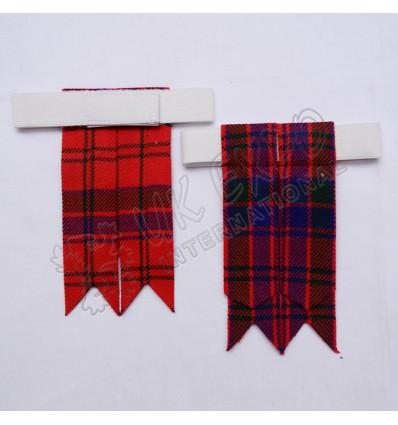 Scottish Tartan Kilt Hose Flashes