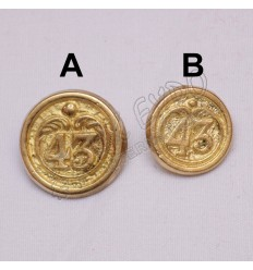 43 Regiment foot Pweter Button 18mm and 22mm
