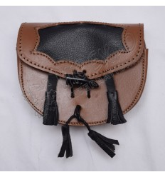 Beautiful Hunting Kilman Black and Brown Leather Day Wear Sporrans