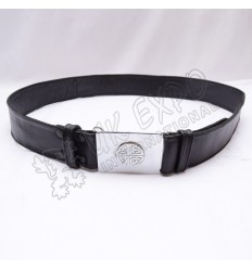 2 inches Wide Double sided Leather Belt with Snaps Closing Celtic Buckle