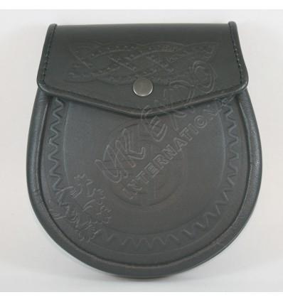 Black Color Embossed Sporran