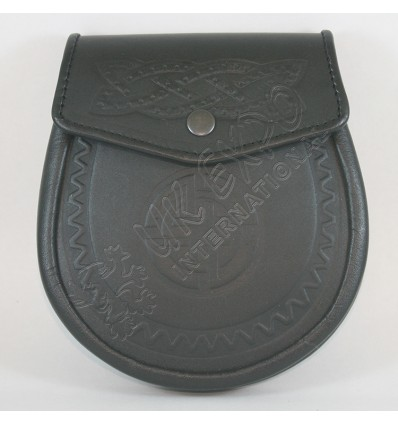 Black Color Embossed Sporran