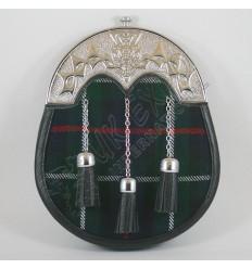 Royal Stewart Tartan Sporran with celtic Cantle