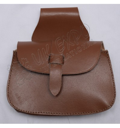 Hiking brown real leather Day Wear Sporrans pouch