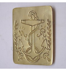 Anchor Brass Chest Plate fit any Cross Belt