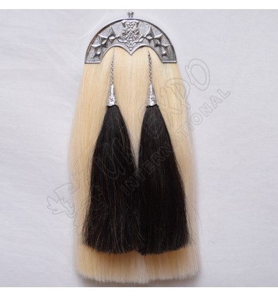 White Horse hairs Sporrant with scottish Flower Cantle