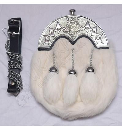 White Rabbit fur sporran