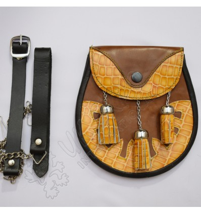 Sporran Leather Embossed