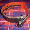 Graint Leather Kilt Waist Belt Red Backing
