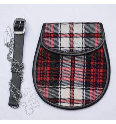 Royal Stewart Tartan Sporran with celtic Cantle