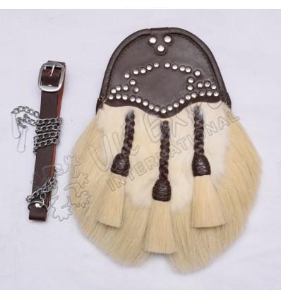 Antique Regimental Rabbit Fur and horse Hair Sporran
