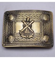 Scottish Bronze Celtic Design Buckle With ST Andrews Badge