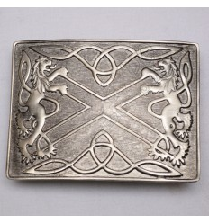 Scottish Shiny Antique Celtic Rampart lion Kilt Buckle