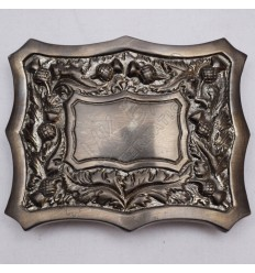 Scottish Thistle Design Antique Finish Kilt Buckle