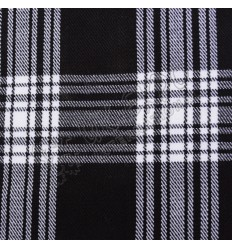 White and Black Tartan No 93