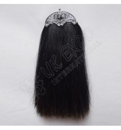 Dark Brown Horse Hair Sporran without Tessels