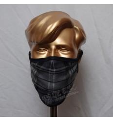 Charcoal Grey Tartan Scottish Style Mask
