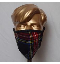 Black Stewart Tartan Scottish Style Mask