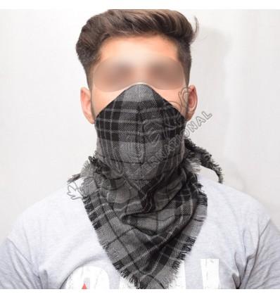 Grey Watch Scarf Style Tartan mask