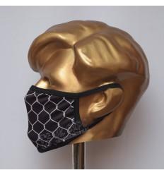 Black And White Stylish Sublimated Cotton Mask
