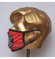 Red With Black Toronto Raptors BasketBall Sublimated Cotton Mask
