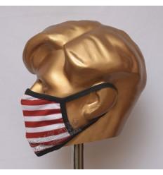 USA Flag Sublimated Cotton Mask