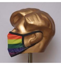 Rainbow Flag Sublimated Cotton Mask