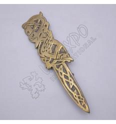 Bird Brass Antique Kilt Pin