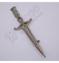 Scotland Sword Shiny Antique Kilt pin