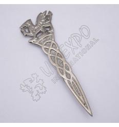 Scottish Rampart Lion Celtic Shiny Antique Kilt Pin
