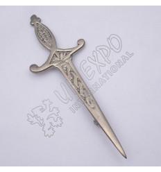 Celtic Crown Shiny Antique Kilt Pin