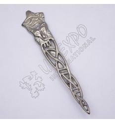 Fox Shiny Antique Kilt Pin