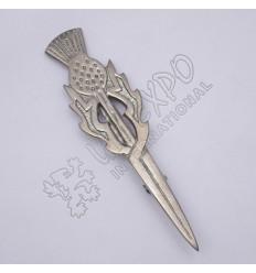 Scottich Sword Shiny Antique Kilt Pin