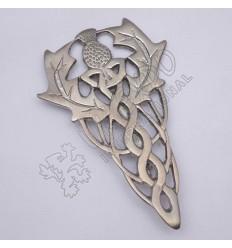 Scottish Flower Primium Celtic Shiny Antique Kilt Pin