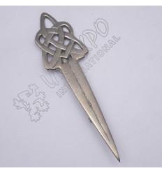 Celtic Knot Shiny Antique Kilt Pin