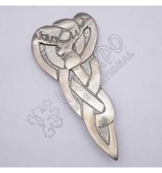 Celtic Stag Shiny Antique Kilt Pin