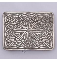 Celtic Weave Scottish Shiny Antique Kilt Belt Buckle