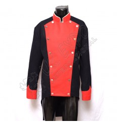 Napoleonic British French Jacket DarkMain Body With Red Front Colar and Cuff