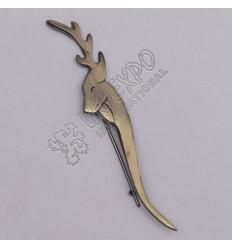 Dear Brass Antique Kilt Pin