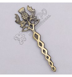 Scottish Thistle Knot Work Brass Antique Kilt Pin