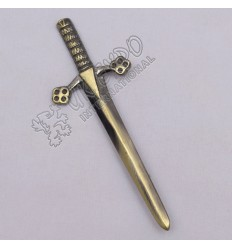 Highland Scottish Sword Brass Antique Kilt Pin
