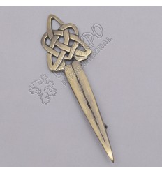 Celtic Knot Brass Antique Kilt Pin