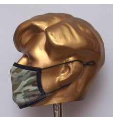 Gray and Brown Camouflage Sublimated Cotton Mask