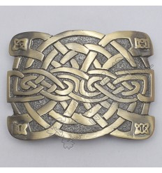 Celtic Irish Trinity Cross Knot Brass Antique Kilt Buckle